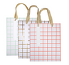 Grid Pattern Medium Gift Bag Set