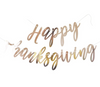 """Happy Thanksgiving"" Script Banner - Rose Gold"