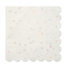 Small Iridescent Polka Dot Napkin