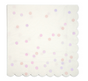 Large Iridescent Polka Dot Napkin