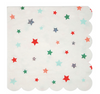 Large Red & Green Star Napkins