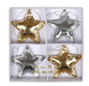 Gold & Silver Star Ornaments