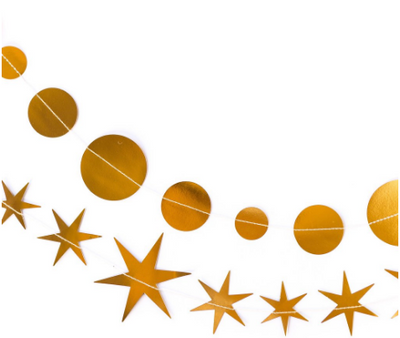 Gold Star & Circle Banner Set