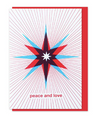 Peace and Love Star Holiday Card