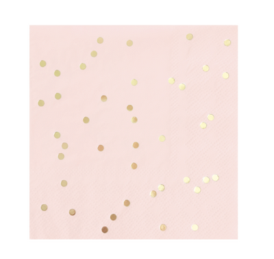 Small Blush & Gold Confetti Napkins