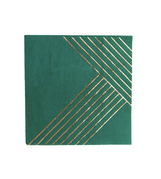 Manhattan Dark Green Cocktail Napkins