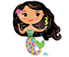 "28"" Happy Mermaid Mylar Balloon"