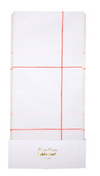 Coral Grid Tablecloth