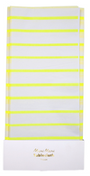 Neon Yellow Striped Tablecloth