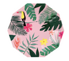 Large Pink Tropical Plate