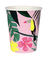 Pink Tropical Cups