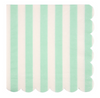 Mint Stripe Large Napkin