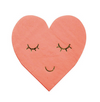Blushing Heart Napkin