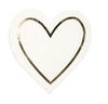 Gold Heart Outline Napkin