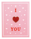 I Heart You Pin Card