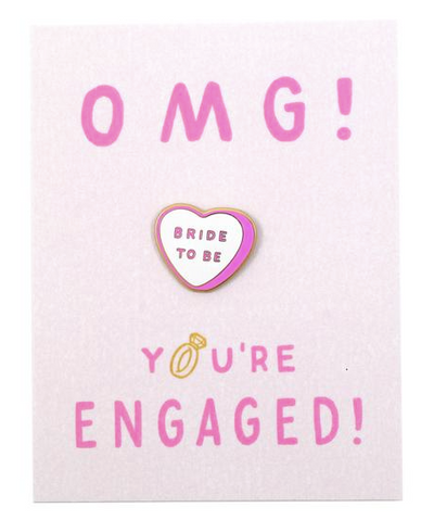 OMG You're Engaged Pin Card