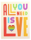 All You Need Is Love Rainbow Pin Card
