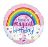 "18"" Magical Birthday Glitter Holographic Foil Balloon"