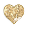 Sequin Gold Heart Hairclip/Brooch