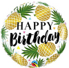 "18"" Birthday Golden Pineapple Mylar Balloon"
