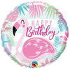 "18"" Birthday Pink Flamingo Mylar Balloon"