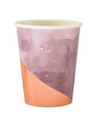 Amethyst Light Purple Watercolor Paper Cups