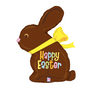 "39"" Chocolate Easter Bunny Mylar Balloon"