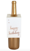 Happy Birthday Rose Gold Foil- Wine & Spirit Letterpress Tag