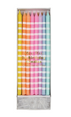 Pastel Stripe Party Candles