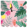 Pink Tropical Large Napkin