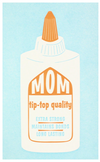 Tip Top Mom Letterpress Card