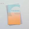 Horizon Letterpress Thank You Card