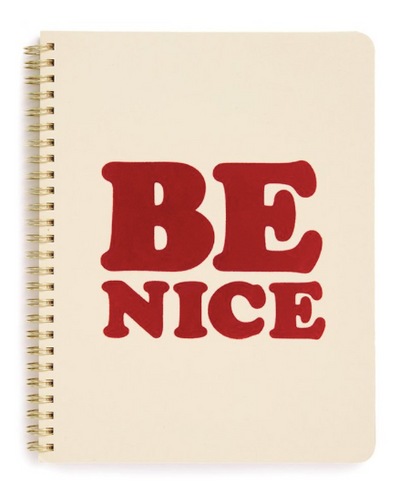 "Rough Draft Mini Notebook - ""Be Nice"""