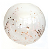 "36"" Jumbo Confetti Balloon-Rose Gold"