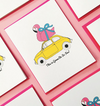 Flamingo Car Card