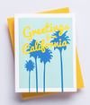 Greetings from Cali Letterpress Card
