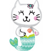 "31"" Mermaid Cat Mylar Balloon"
