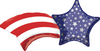 "27"" Patriotic Shooting Star Mylar Balloon"