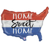 "33"" Patriotic Home Sweet Home Mylar Balloon"
