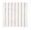 Metallic Pink Striped Small Napkins