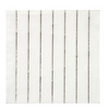 Silver Striped Small Napkins