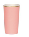 Neon Coral Highball Cups
