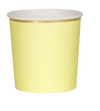 Pale Yellow Tumbler Cups