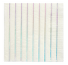 Silver Holographic Striped Large Napkins