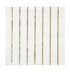 Gold Striped Small Napkins