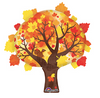 "30"" Fall Tree Mylar Balloon"