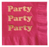 Hot Pink Party Foil Napkin