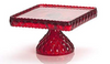 Square Cake Plate - Red