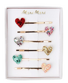 Glitter Heart Hair Slides