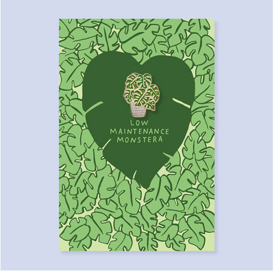 Monstera Pin + Post